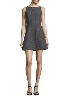 Alice + Olivia Demetria Boatneck Mini Dress