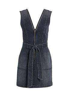 Alice + Olivia Denim V-Neck Mini Dress