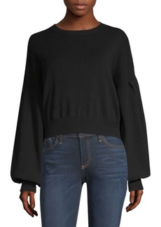 Alice + Olivia Diana Split Sleeve Cropped Top