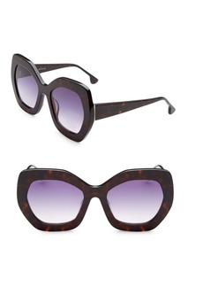 Alice + Olivia Dinah Tortoise Hexagonal Sunglasses