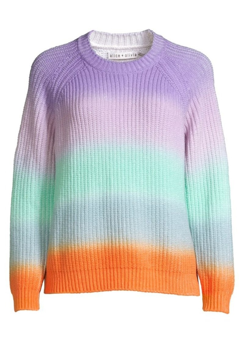 Alice + Olivia Dona Knit Crewneck Sweater