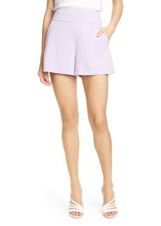 Alice + Olivia Donald High Waist Flared Shorts