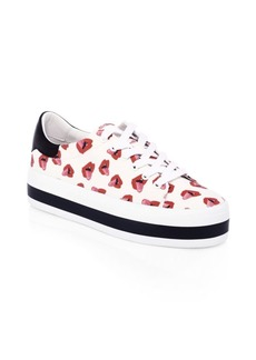 Alice + Olivia Donald Robertson Collaboration Ezra Canvas Sneakers