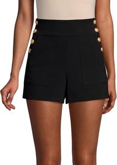 Alice + Olivia Donald Side-Button Shorts