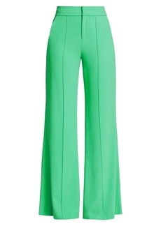 Alice + Olivia Dyan High-Waist Wide-Leg Trousers