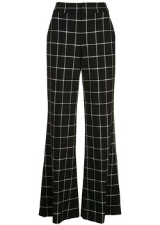 Alice + Olivia Dylan check wide-leg trousers