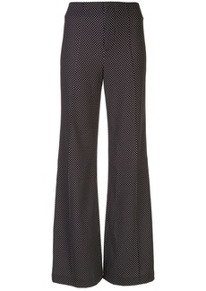 Alice + Olivia Dylan high-waist dotted trousers