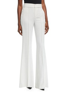Alice + Olivia Dylan High-Waist Wide-Leg Pants w/ Pintucking