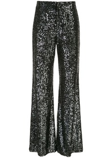 Alice + Olivia Dylan sequin flared trousers