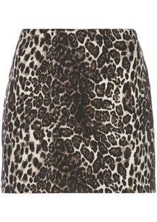 Alice + Olivia Elana leopard mini skirt