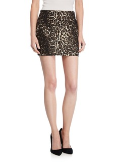 Alice + Olivia Elana Leopard-Print Mini Skirt