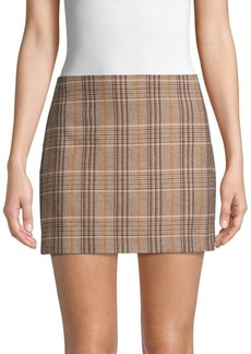 Alice + Olivia Elana Plaid Mini Skirt