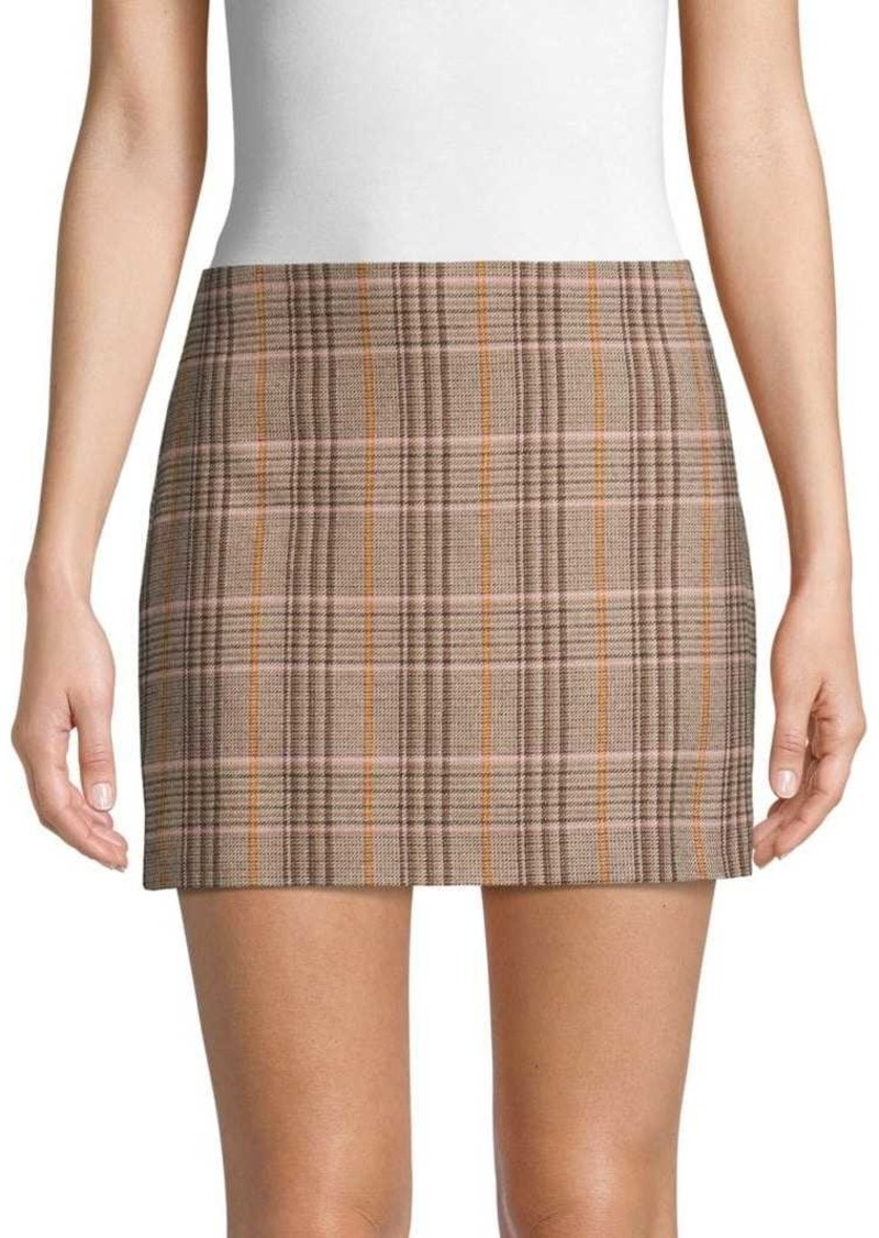 Alice + Olivia Elana Plaid Mini Skirt