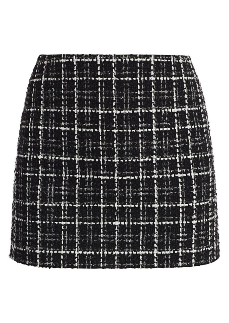 Alice + Olivia Elana Tweed Mini Skirt