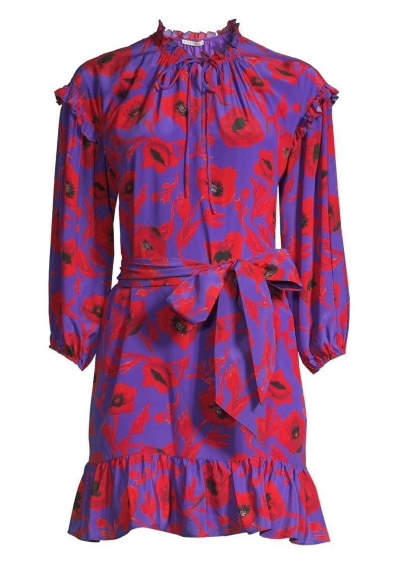 Alice + Olivia Ellamae Drop Shoulder Floral Dress