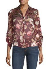 Alice + Olivia Eloise Button-Front Blouse