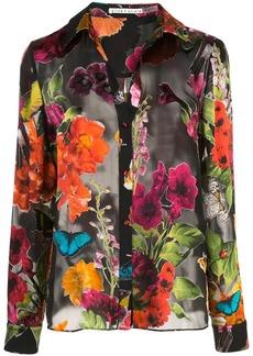 Alice + Olivia Eloise floral shirt