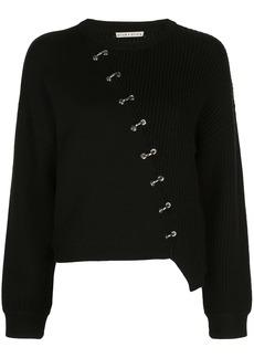 Alice + Olivia Elyse panelled knit jumper