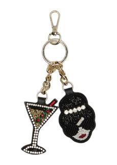 Alice + Olivia Embellished Stace Face & Martini Key Charm