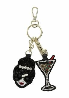 Alice + Olivia Embellished Stacey Face Martini Key Charm