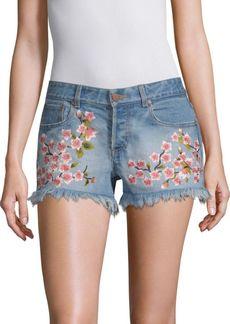 Alice + Olivia Embroidered Vintage Shorts