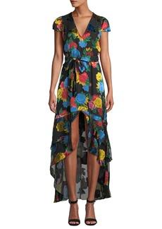 Alice + Olivia Erika Ruffle Midi Dress