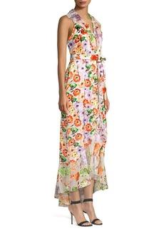 Alice + Olivia Evelia Asymmetric Floral Maxi Dress