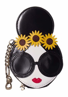 Alice + Olivia Evy Stace Face w/ Coin Pouch Key Charm