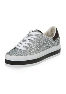 Alice + Olivia Ezra Platform Glitter Low-Top Sneakers