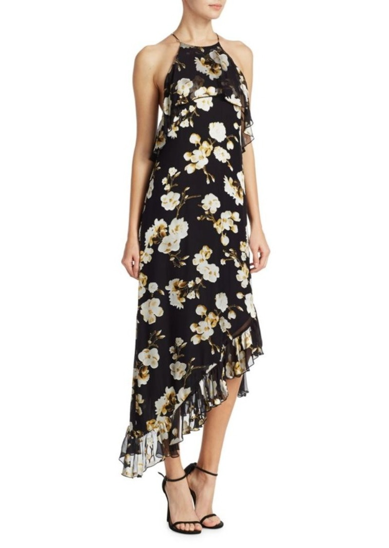 Alice + Olivia Fabiola Floral Ruffle Shift Dress