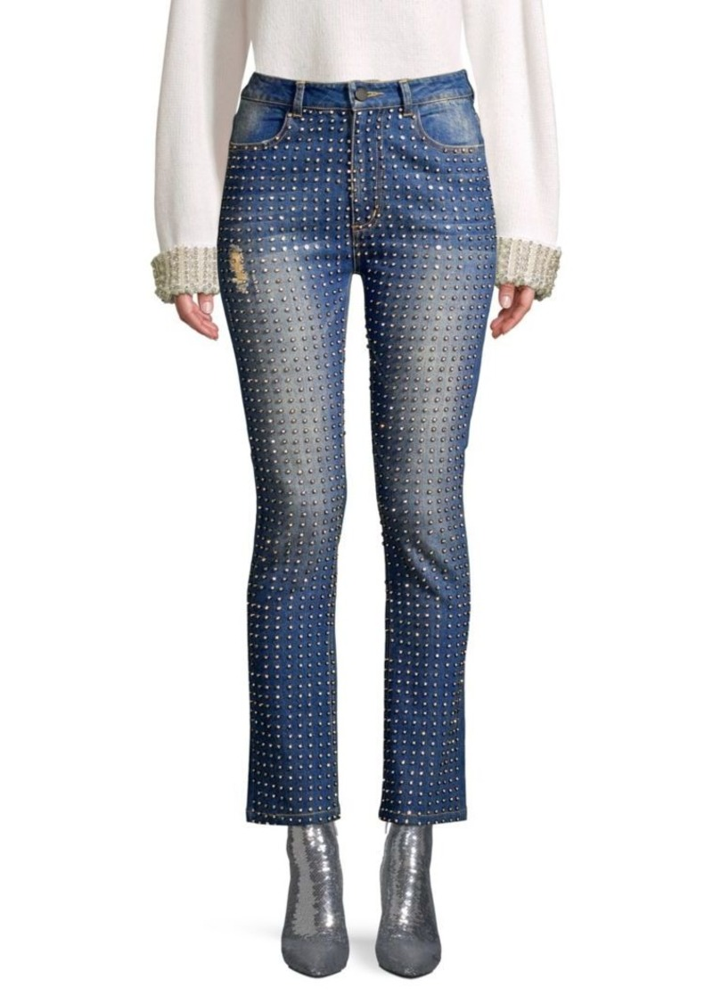 special section enjoy free shipping shop best sellers Fabrice High-Rise Crystal Embellished Jeans