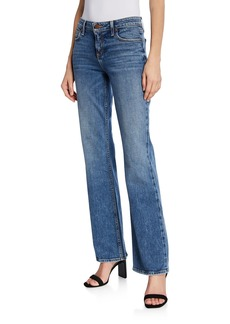 Alice + Olivia Fabulous Super Low-Rise Boot-Cut Jeans