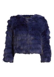 Alice + Olivia Fawn Rabbit & Fox Fur Jacket