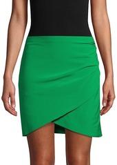 Alice + Olivia Fidela Draped Mini Skirt