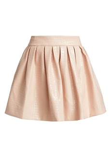 Alice + Olivia Fizer Faux Leather Skirt