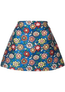 Alice + Olivia floral embroidery short skirt