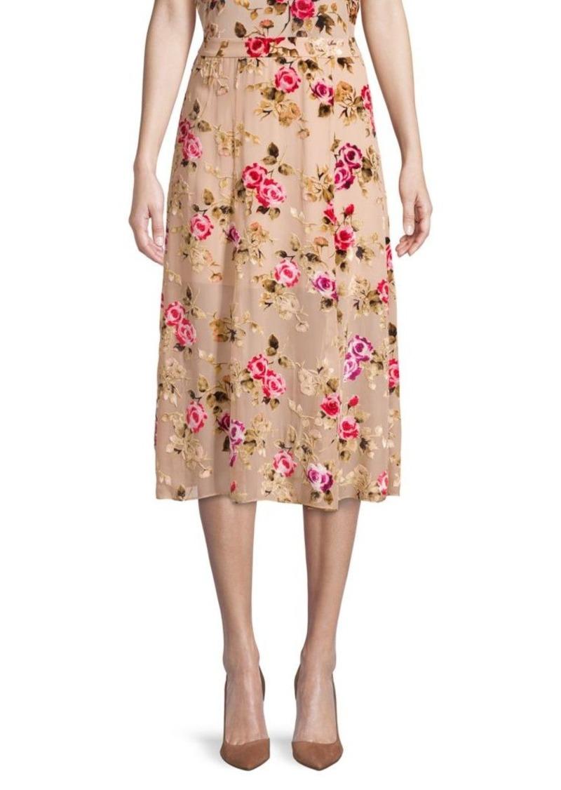 Alice + Olivia Floral Midi Skirt