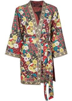 Alice + Olivia floral print belted jacket