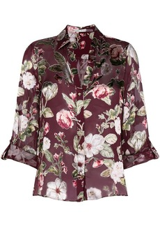 Alice + Olivia Eloise roll cuff button down shirt