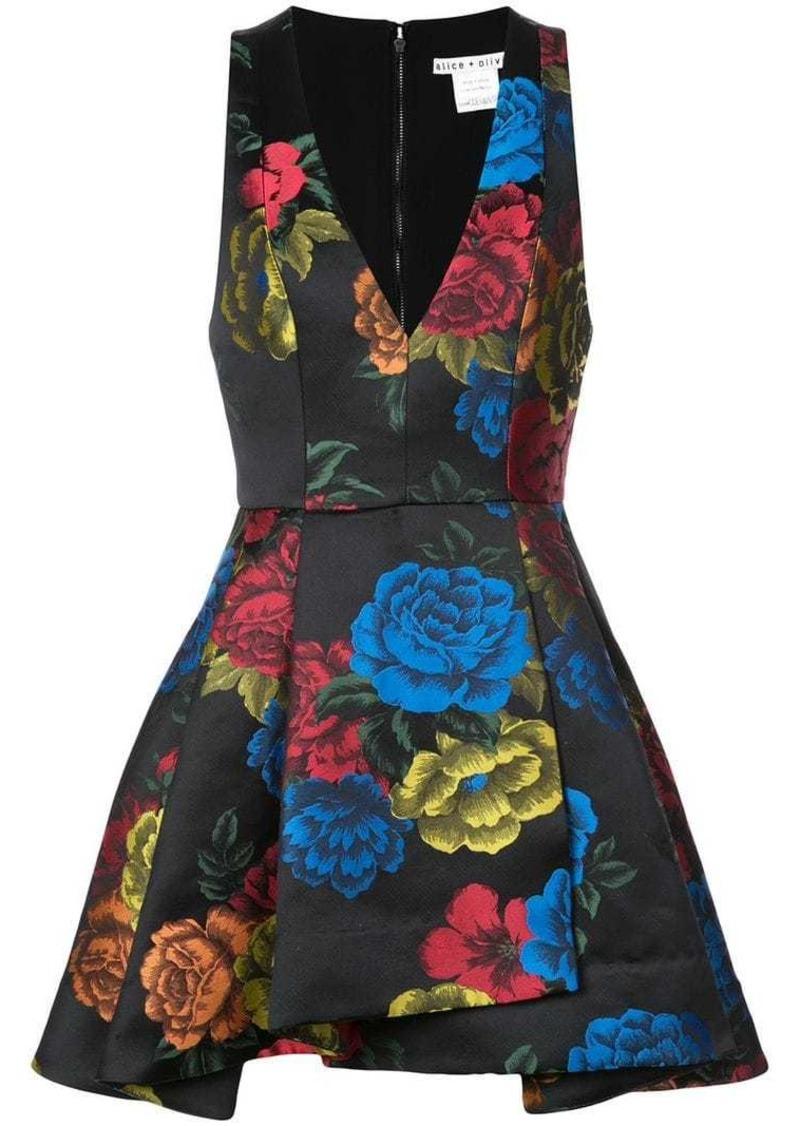 Alice + Olivia floral print short dress