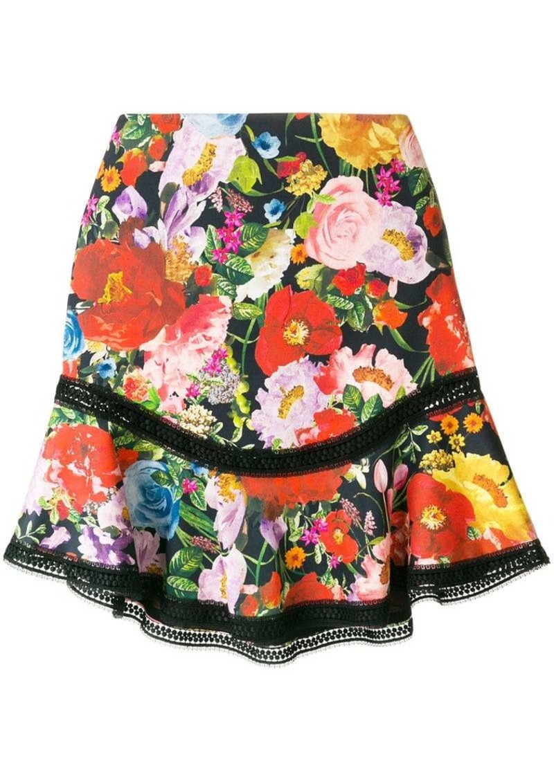 Alice + Olivia floral print skirt