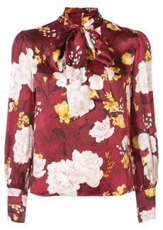 Alice + Olivia floral print tie neck blouse