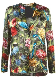 Alice + Olivia floral print V-neck blouse
