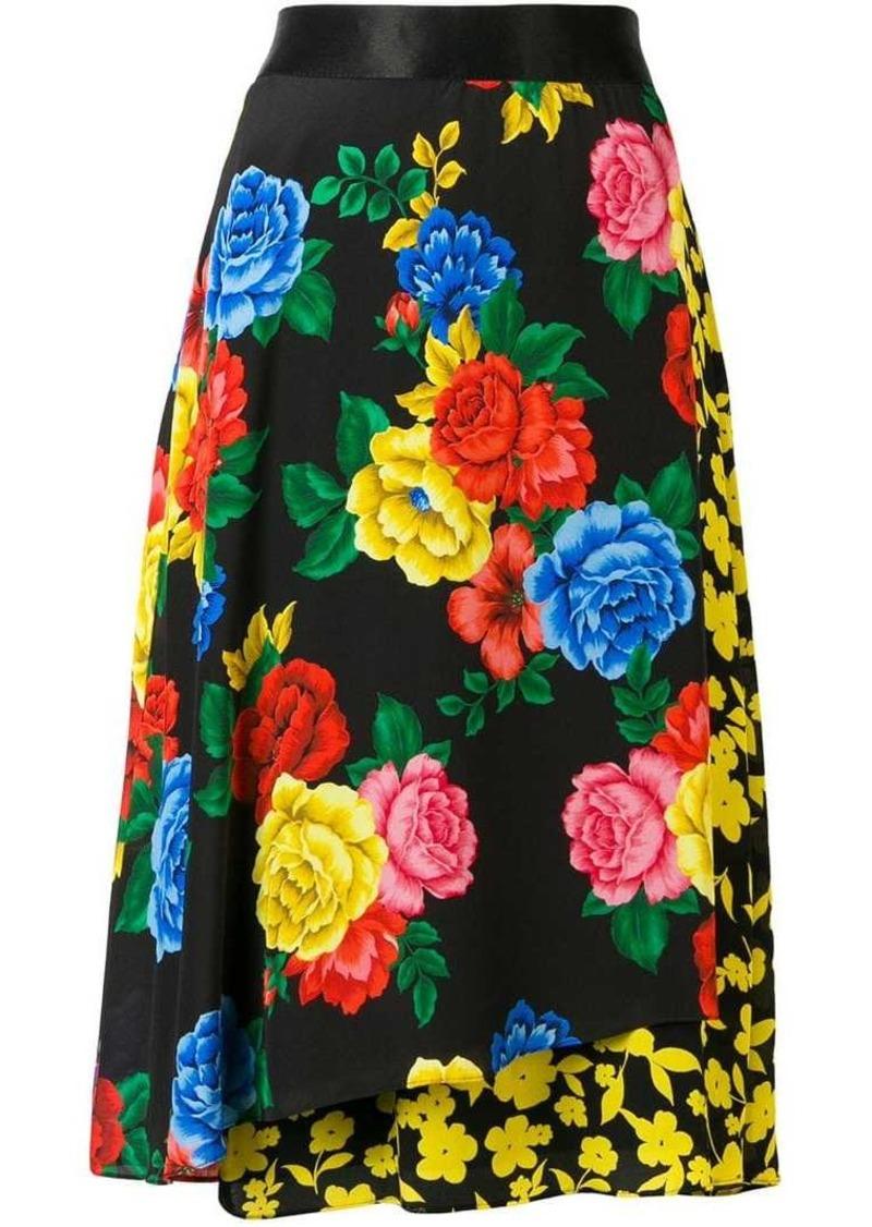 Alice + Olivia floral silk skirt