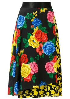 Alice + Olivia floral silk skirt