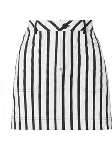 Alice + Olivia Gail Striped Cotton-blend Twill Mini Skirt