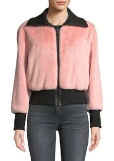 Alice + Olivia Genova Reversible Faux-Fur Bomber Jacket