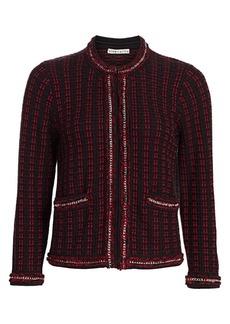 Alice + Olivia Georgia Chain-Trim Tweed Jacket