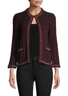 Alice + Olivia Georgia Checker Knit Short Jacket