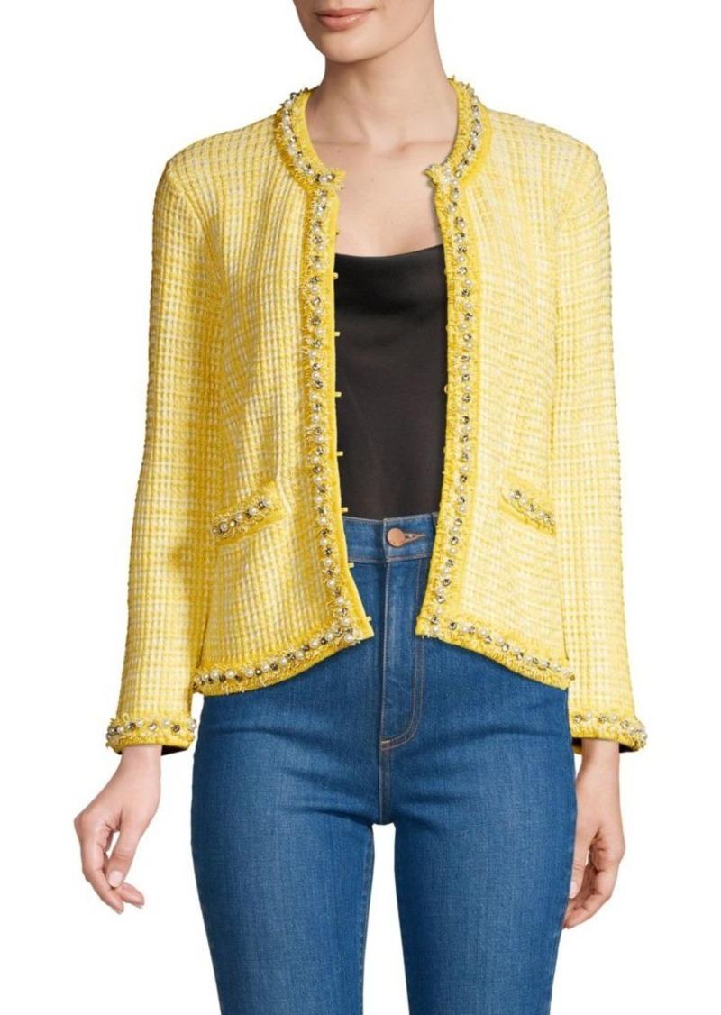 Alice + Olivia Georgia Embellished Knit Jacket